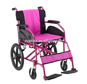 Lightweight aluminum wheelchair for halls ALK867LB